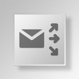 3D mailing icon Business Concept Stock Images
