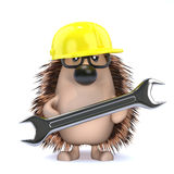 3d Maintenance hedgehog Royalty Free Stock Photo