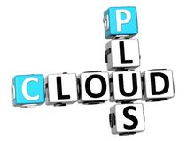 3D mais palavras cruzadas da nuvem Fotografia de Stock Royalty Free
