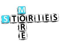 3D mais palavras cruzadas das histórias Imagem de Stock