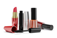 3d makeup cosmetics. On white background Royalty Free Stock Photography