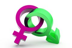 3d male female sign concept Royalty Free Stock Image