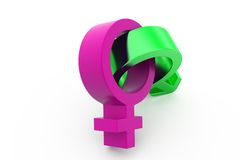 3d male female sign concept Stock Image