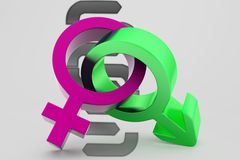 3d male female sign illustration Royalty Free Stock Images