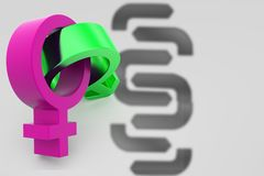 3d male female sign illustration Royalty Free Stock Image