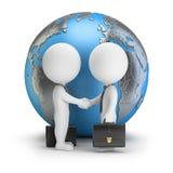 3d mali ludzie - globalna transakcja Fotografia Royalty Free