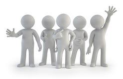 3d mali ludzie - najlepszy grupa ilustracja wektor