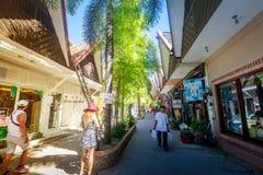 D Mall souvenir shop in Boracay, Aklan, Philippines. D Mall souvenir shop on Nov 19, 2017 in Boracay, Aklan. D-Mall in Boracay consist of restaurants, souvenir Royalty Free Stock Image