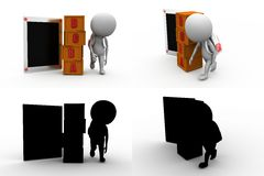 3d man abc concept collections with alpha and shadow channel Stock Image