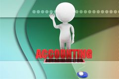 3d man accounting illustration Royalty Free Stock Photos