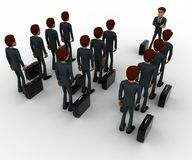 3d man addressing group of executives concept Stock Image