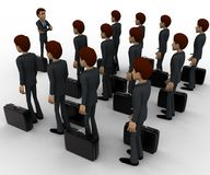 3d man addressing group of executives concept Royalty Free Stock Photography