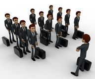 3d man addressing group of executives concept Stock Photography