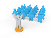 3d man addressing a group. Royalty Free Stock Photo