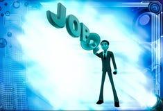 3d man advertise job using speaker illustration Stock Photo