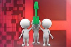 3d man aim illustration Royalty Free Stock Photo