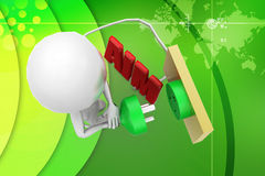 3d man aim plug illustration Royalty Free Stock Photography