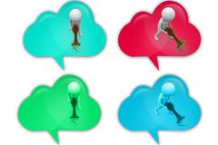3d man approved icon Royalty Free Stock Photo