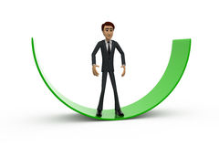 3d man on arc concept Stock Photography