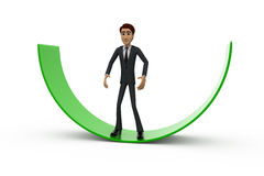 3d man on arc concept Royalty Free Stock Images
