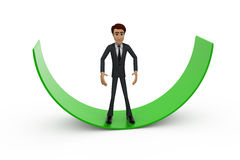 3d man on arc concept Stock Image