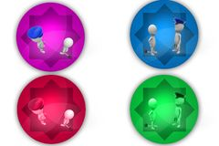 3D Man arrest concept icon Royalty Free Stock Photography
