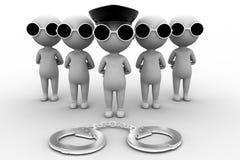 3d man arrest concept Royalty Free Stock Image