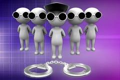 3d man arrest illustration Stock Photo