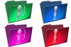3d Man with arrow Royalty Free Stock Image