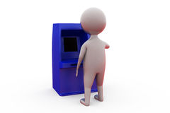 3d man atm machine concept Stock Images