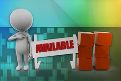 3D man available illustration Stock Images