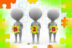 3d man B 2 B  illustration Stock Photo