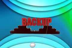 3d man backup illustration Stock Photography