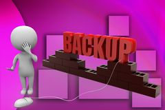 3d man backup illustration Stock Photos