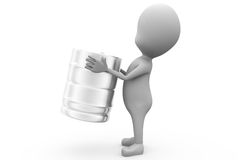 3d man barrel concept Royalty Free Stock Photos