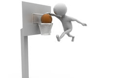 3d man basket ball concept Royalty Free Stock Photography