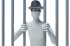 3d man behind bars Stock Image