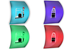 3d man bellboy concept icon Royalty Free Stock Images