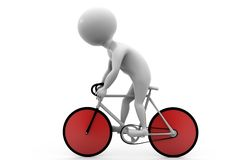 3d man bicycle concept Stock Photo