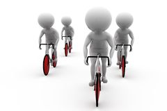 3d man bicycle race concept Royalty Free Stock Photography