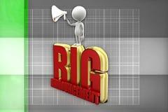 3d man big announcement illustration Stock Images