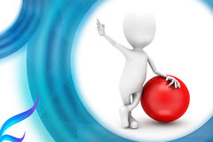 3d man with big ball illustration Royalty Free Stock Photography