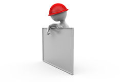 3d man with big board concept Royalty Free Stock Photos