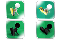 3d Man big file concept icon Stock Image