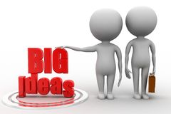 3d man with Big Ideas Stock Image