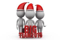 3d man big team 2015 concept Royalty Free Stock Photos