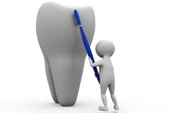 3d man big teeth concept Royalty Free Stock Images