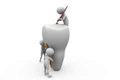 3d man big teeth team concept Royalty Free Stock Images