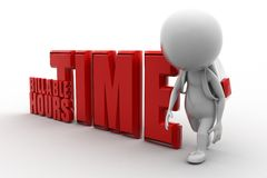 3D man Billable Hours Time Stock Images
