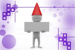 3d man birthday board illustration Royalty Free Stock Images